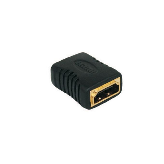 Преходник VCom CA313, HDMI(ж) to HDMI(ж), позлатен, черен image