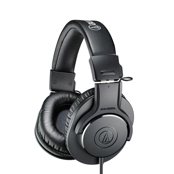 Слушалки Audio-Technica ATH-M20x, за професионален мониторинг, 40мм говорители, 15-20kHz, 96 dB, 6.3мм адаптер, черни image