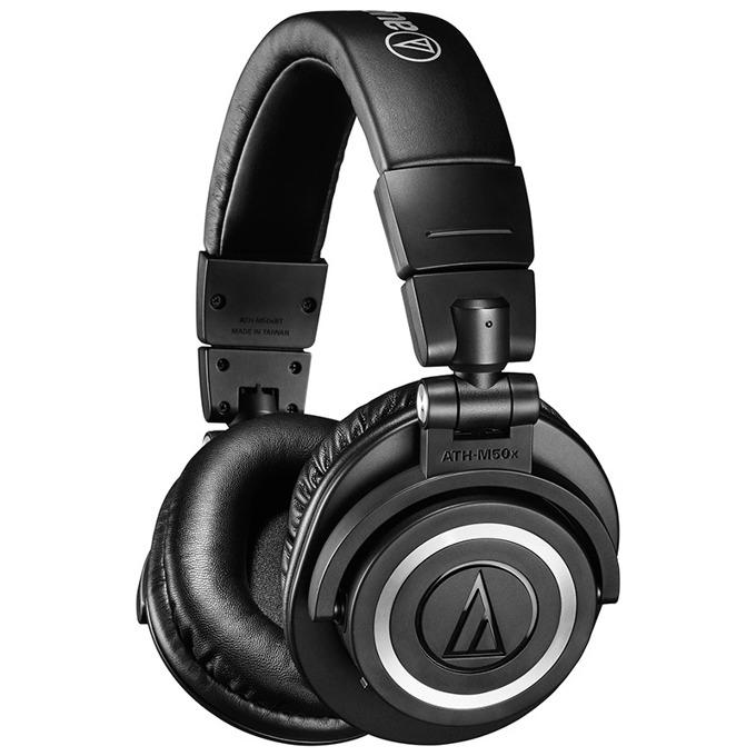 Слушалки Audio-Technica ATH-M50xBT, безжични, професионални, до 3m кабел, Bluetooth 5.0, 45mm говорители, черни image