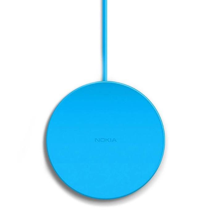 Зарядно у-во за Nokia и др IQ мобилни устройста, USB А(м), 5V, безжично, син image