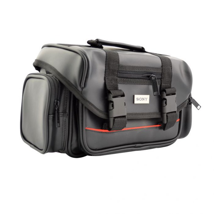 Чанта за камера SONY, PVC, черна кожа, голяма image