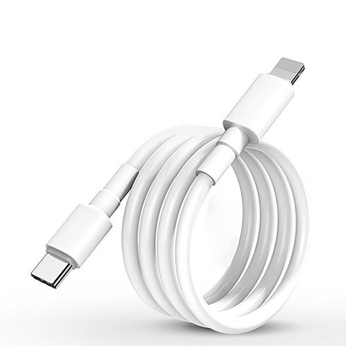 Кабел Kingleen QH-C42, от USB Type C (м) към Lightning(м), 1.5m, бял image