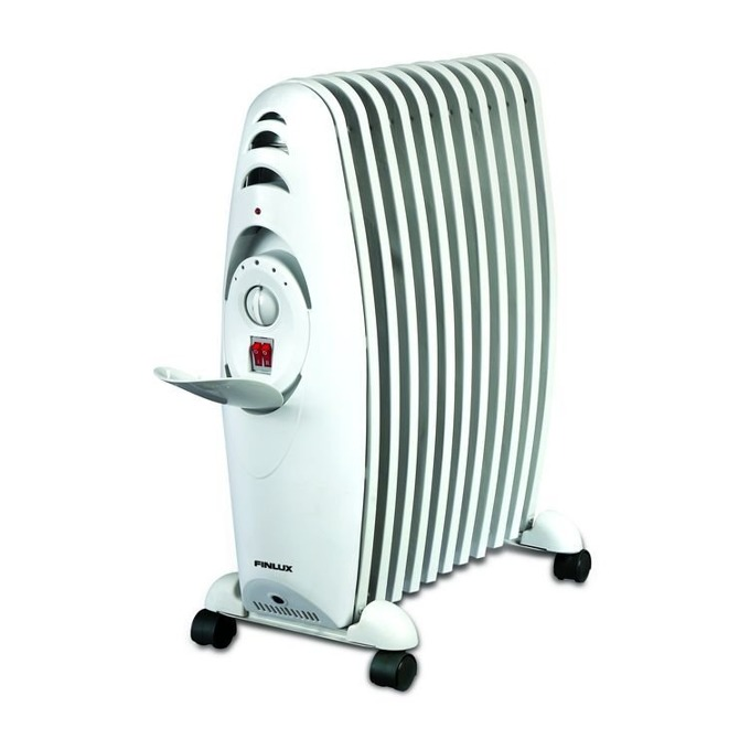 Маслен радиатор Finlux FR-2311, 3 степени на мощност, термостат, 11 ребра, 2300W, бял image