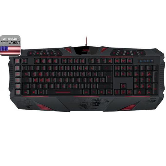 Клавиатура Speedlink Parthica, гейминг, подсветка, черна, US, USB image