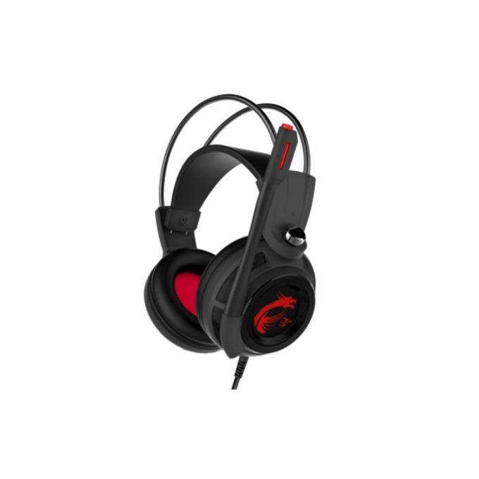 Слушалки MSI DS502 Gaming, микрофон, вибрация, черни image