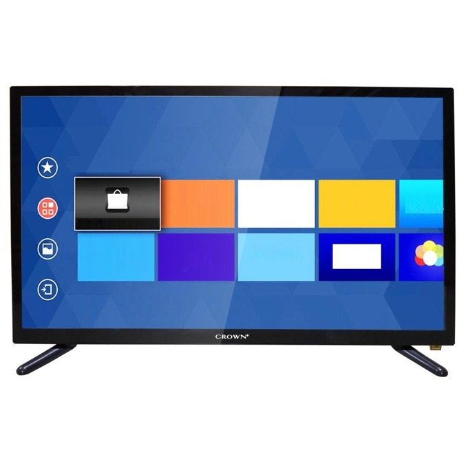"Телевизор Crown 2433T2, 24"" (60.96 cm)1366 x 768 LED TV, HD Ready, DVB-T/T2/C/MPEG4, HDMI, VGA, Wi-Fi, SCART, USB image"
