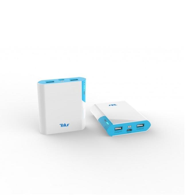 Външна батерия/power bank/ Tellur TL40 8000 mAh, бяла image