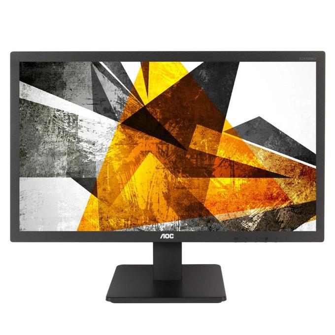 """Монитор AOC e2475SWQE, 23.6""""(59.94 cm) TN панел, Full HD, 1ms, 20M:1, 250 cd/m2, VGA, HDMI, DisplayPort image"""