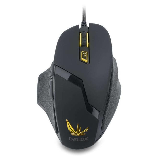 Мишка DELUX DLM 612BU USB, 4000 dpi, USB, черна image