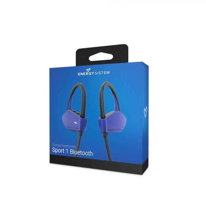 Слушалки Energy Sistem Earphones Sport 1, безжични, микрофон, Bluetooth, сини image