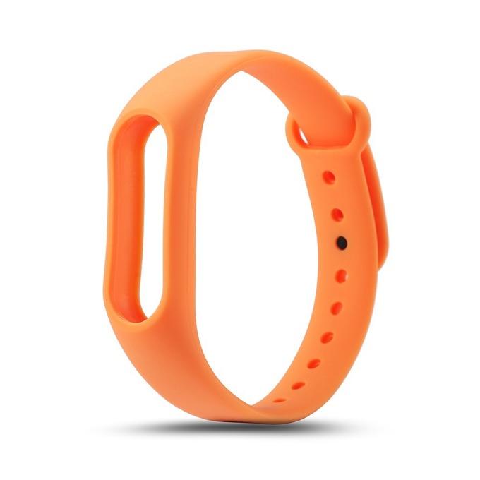 Силиконова гривна за Xiaomi Mi Band 2, само гривна, оранжева image