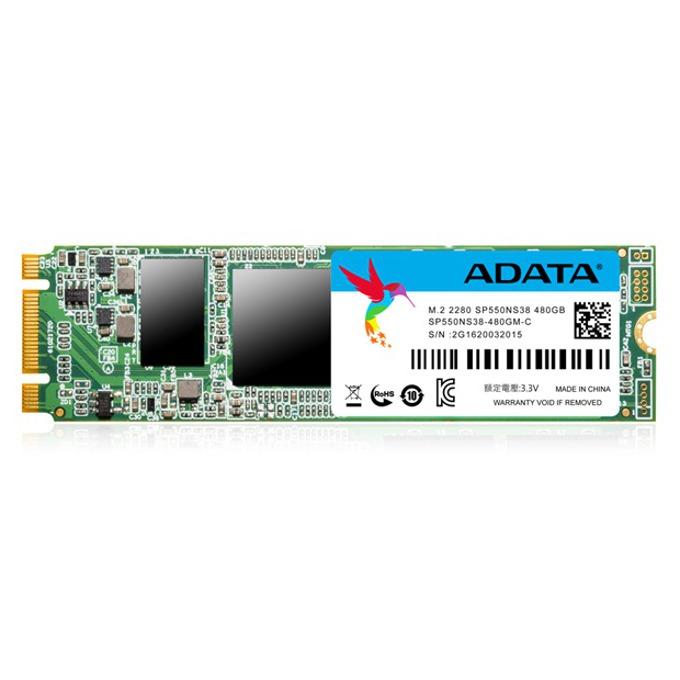 SSD 480GB A-Data Premier SP550, SATA 6Gb/s, M.2 (2280), скорост на четене 520MB/s, скорост на запис 470MB/s image