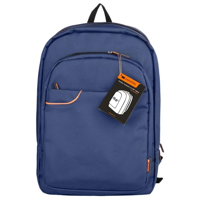 """Раница за лаптоп Canyon Fashion backpack, до 15.6"""" (39.62 cm), полиестер, водоустойчива, синя image"""