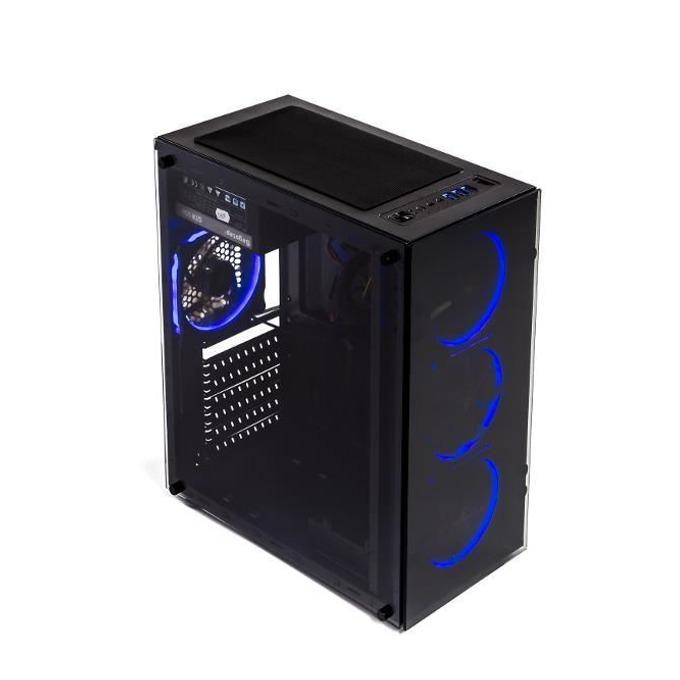 Кутия Segotep And 8, ATX/mATX/ITX, 1x USB 3.0, с прозорец, черна, без захранване image