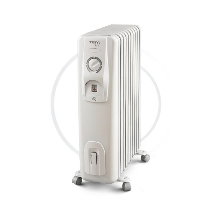 Радиатор Tesy CC2510E05R, 10 ребра, 3 степени на работа, чувствителен терморегулатор, 2500W, бял image