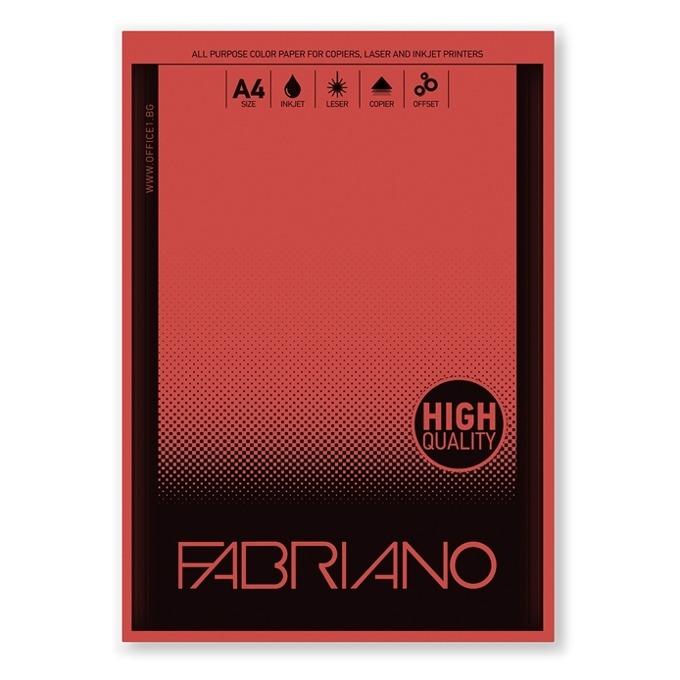 Fabriano A4, 160 g/m2, червен, 50 листа product