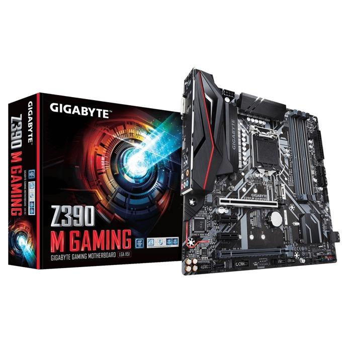 Дънна платка Gigabyte Z390 M GAMING, Z390, LGA1151, DDR4, PCI-Е (HDMI&DVI-D), (CF), 6x SATA 6Gb/s, 2x M.2 socket, 1x USB 3.1 Type C Gen2, Micro ATX, RGB подсветка image