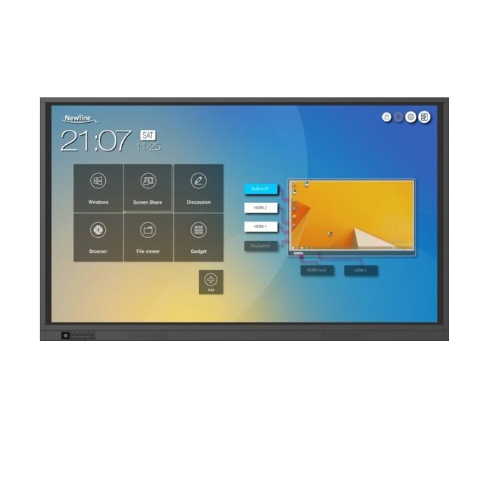 "Интерактивен дисплей Newline TruTouch TT-8619RS, 86"" (218.44 см) 4K Ultra HD Advanced Infrared Touch мулти-тъч дисплей, HDMI, DP, USB, LAN image"