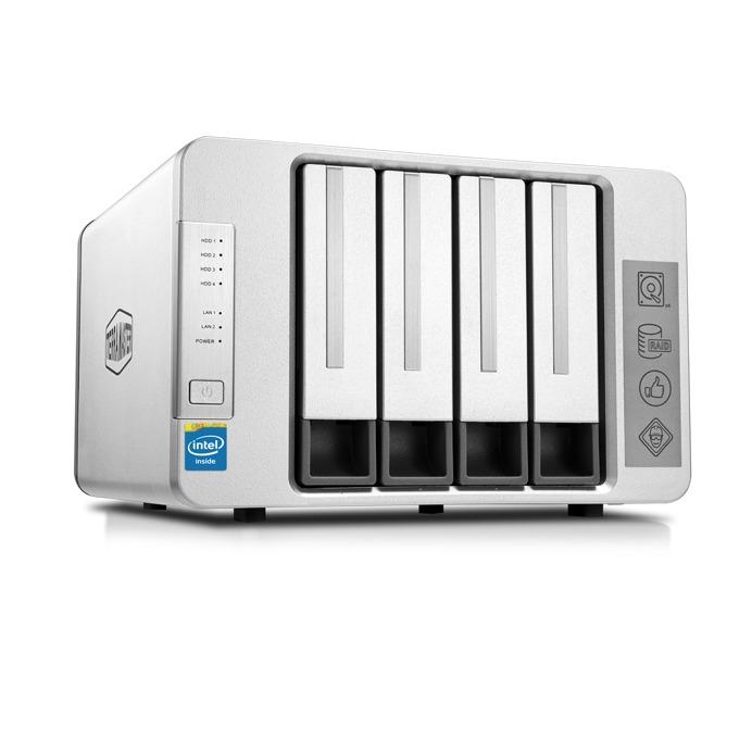 TerraMaster F4-420 (F4-420/2X4TB), четириядрен Intel Celeron J1900 2.0GHz/2.42GHz, 4 GB RAM, 2x 4TB Seagate NAS HDD, 2x RJ-45, USB 3.0, USB 2.0, Tower image