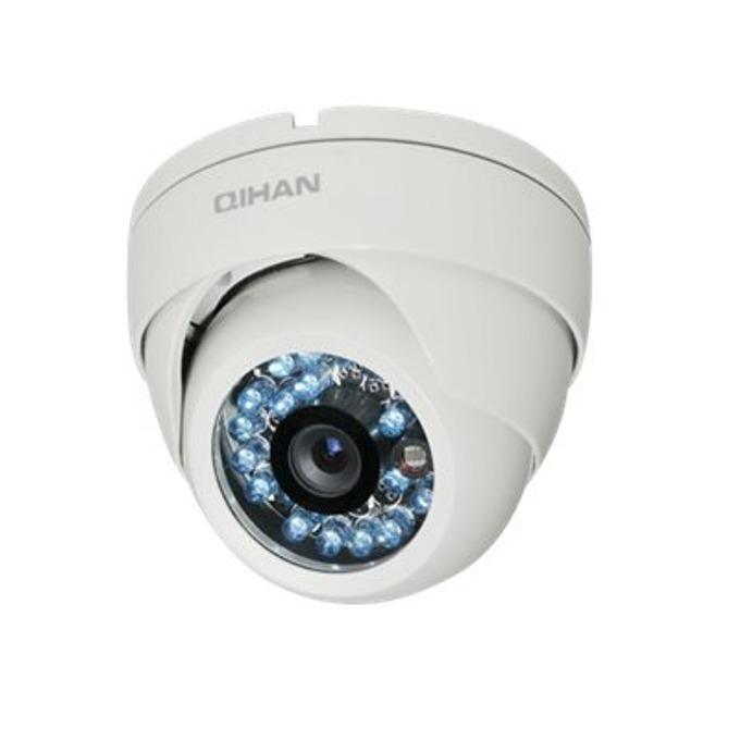 "Qihan QH-3505HC-N, камера, куполна, водоустойчива, 1/4"" HD CMOS, 1.0MP, 720P, 3.6mm, ИЧ-20 image"