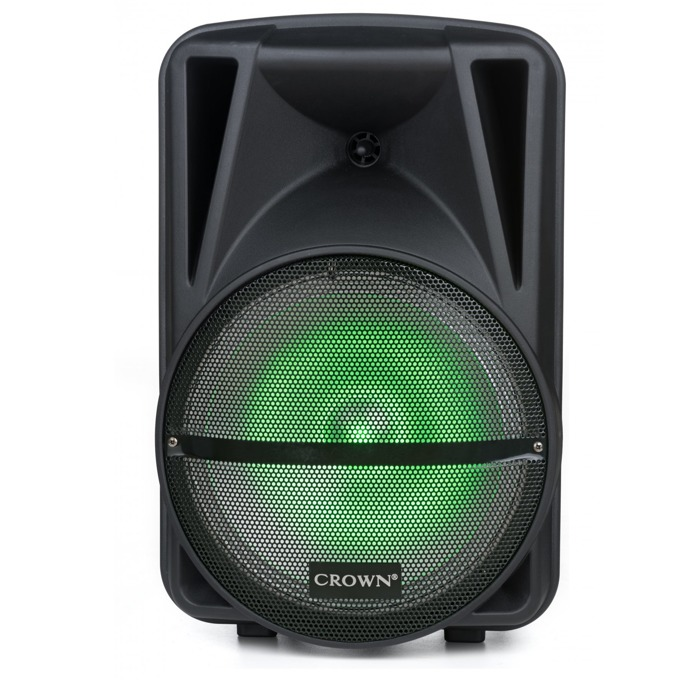 Караоке тонколона Crown XBS-250BM, 2.0, RMS(250W), Bluetooth, 2бр. безжични микрофони, USB, SD, LCD дисплей, черна image
