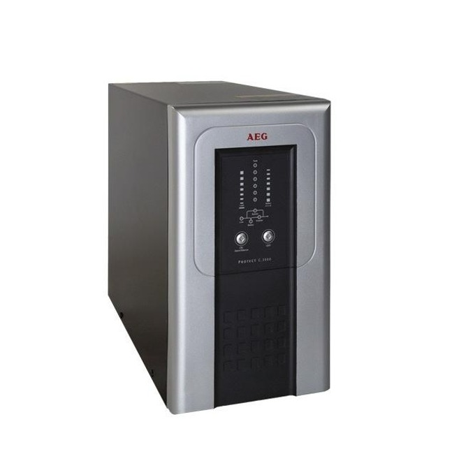 UPS AEG Protect C. 3000VA/2400W, Online, LCD дисплей, Tower image