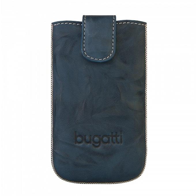 Универсален калъф, джоб, естествена кожа, Bugatti Unique Leather Case M, син image