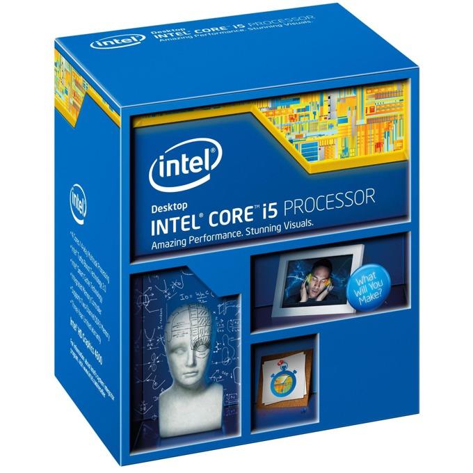 Процесор Intel Core i5-4460 четириядрен (3.2/3.4 GHz Turbo Boost, 6MB L3, 1.1GHz GPU, LGA1150) BOX, с охлаждане image
