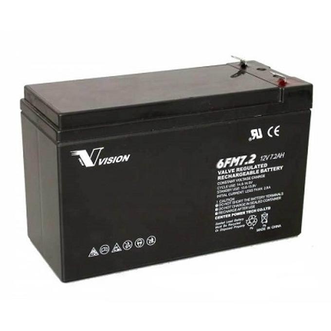 Акумулаторна батерия Vision 6FM7.2, 12V, 7.2Ah image