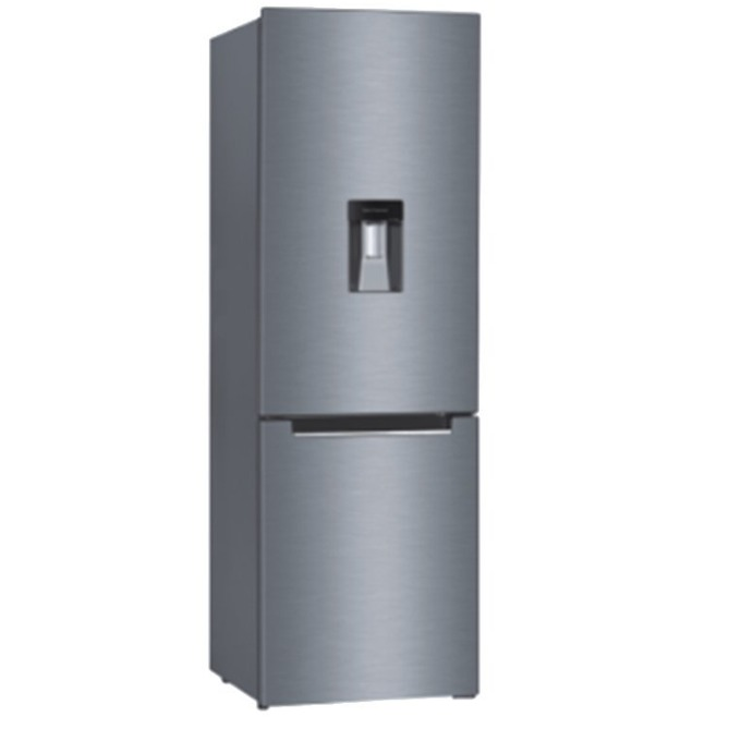 Хладилник с фризер Heinner HC-N268SWDF+, 262 л. общ обем, свободностоящ, 248 kWh годишно, диспенсер за вода, сив image