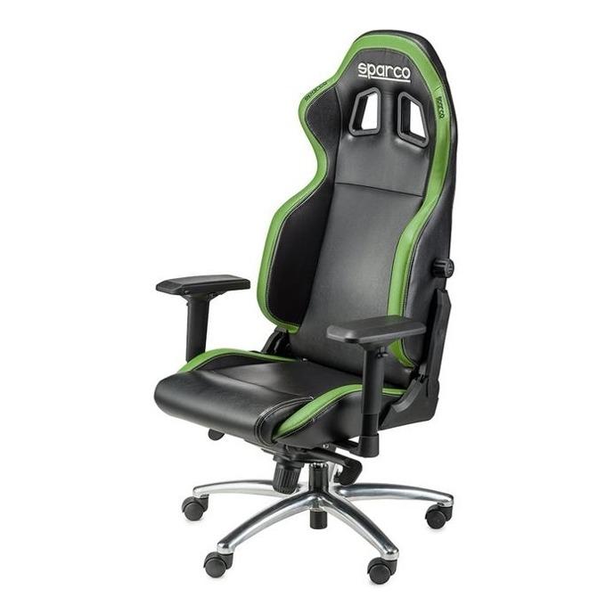 Геймърски стол Sparco Respawn SG-1 Green, черно/зелен image