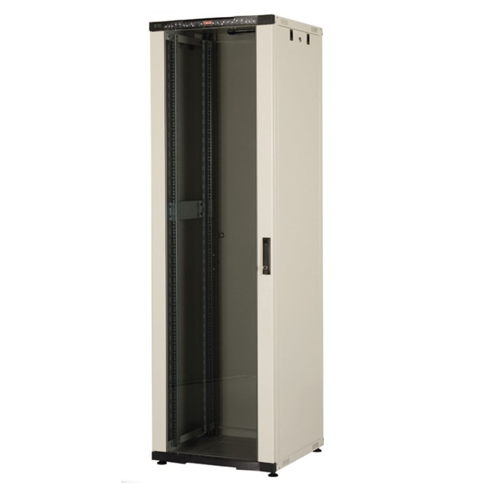 "Комуникационен шкаф Lande LN-CK36U6060-LG-121, 19"", 36U, 600 x 600 мм, LCD термометър, сив image"