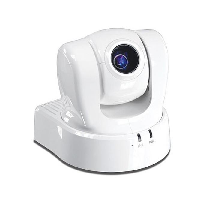IP камера TRENDnet TV-IP612P, управляема камера (PTZ - Pan/Tilt/Zoom), 704x576@30fps, 3.8mm-38.0mm обектив, H.264/MPEG-4/MJPEG, PoE, вграден микрофон, бяла image
