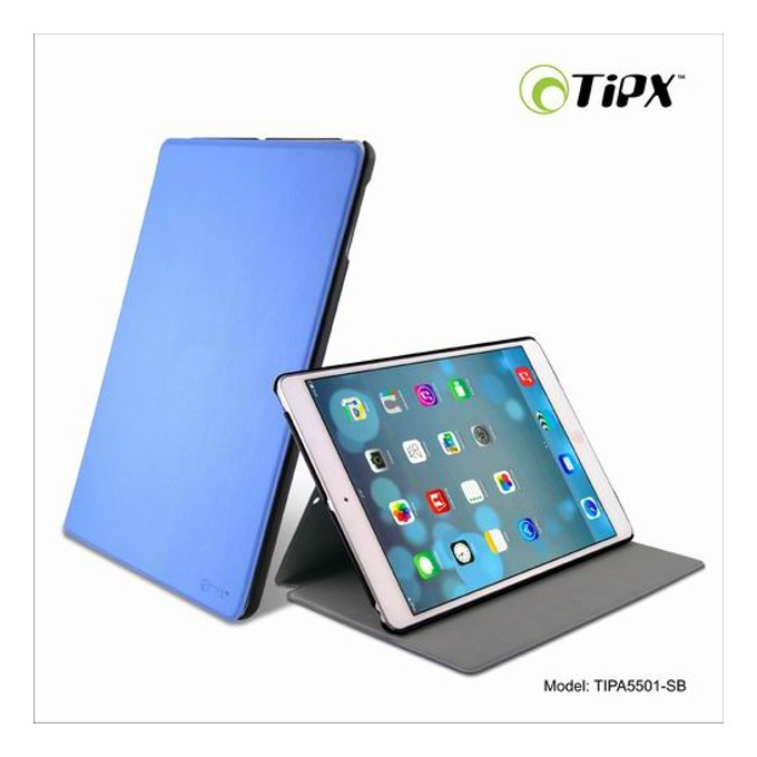 Калъф за iPad Air, Flip Cover, кожен, Tipx Airslim Collection, син image
