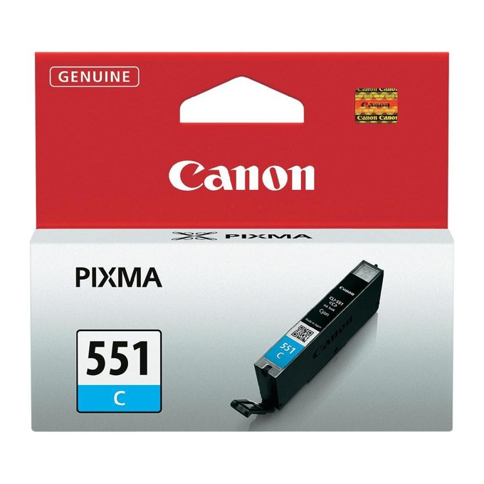 ГЛАВА CANON PIXMA IP7250/iP8750/iP8750/iX6850/MG5450/MG6350/MG6450/MG6650/MG7150/MG7550/MX725/MX925 - Cyan ink tank - CLI-551C - P№ 6509B001 - заб.: 300p image
