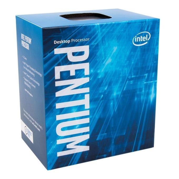 Процесор Intel Pentium G4600 двуядрен (3.6GHz, 3MB Cache, 350MHz-1.10GHz GPU, LGA1151) BOX, с охлаждане image