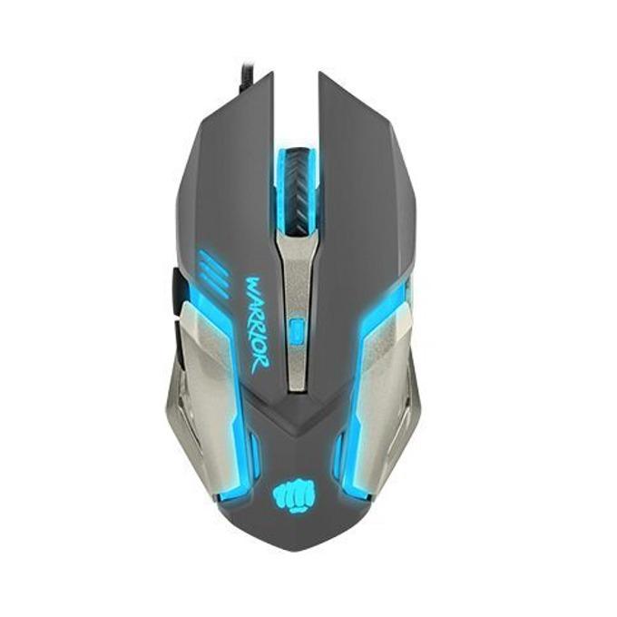 Мишка Fury Warrior, оптична (3200 dpi), USB, сива, гейминг, подсветка, 6 бутона image
