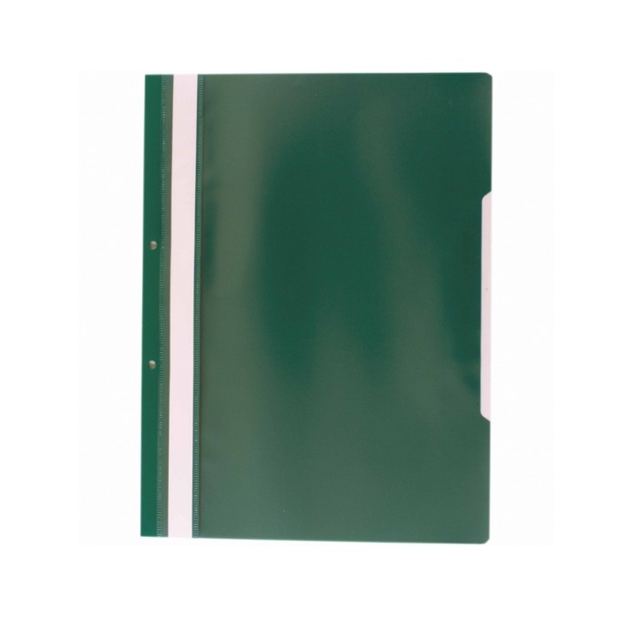 Папка PVC перфорация зелена
