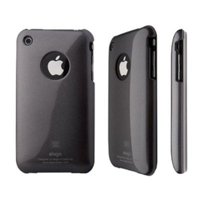 Заден капак Elago S2 High Glossy Gun Metal за iPhone 3G/3GS, сив image