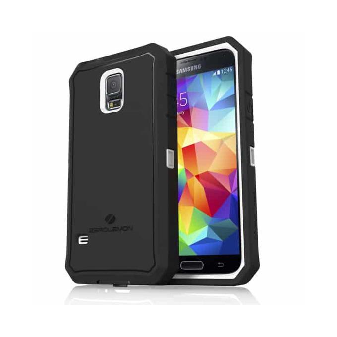 Протектор Zerolemon за Samsung Galaxy S5, черен с бял кант image