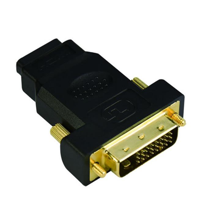 Преходник VCom, от DVI(м) към HDMI(ж), позлатени конектори, черен image