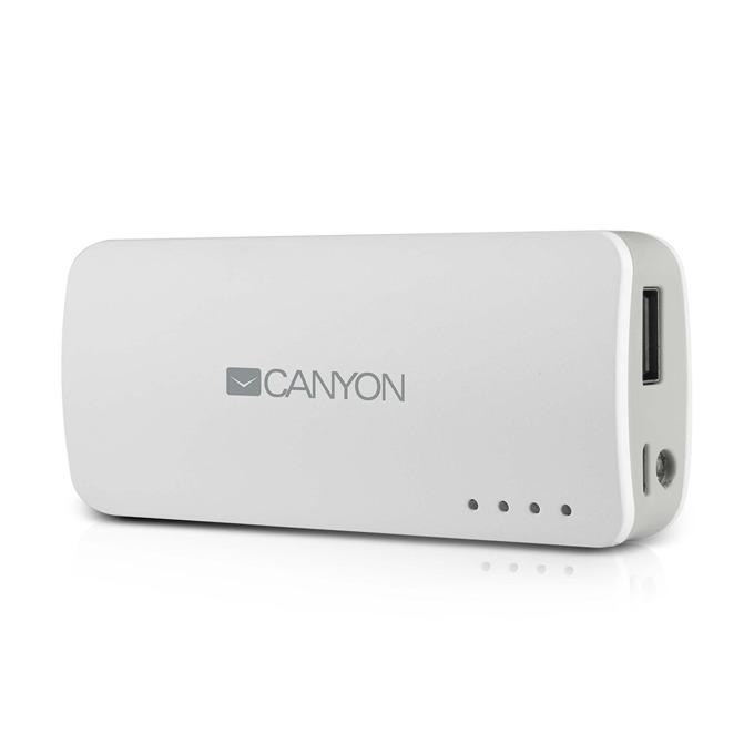 Външна батерия/power bank Canyon CNE-CPB44W, 4400mAh бяла image