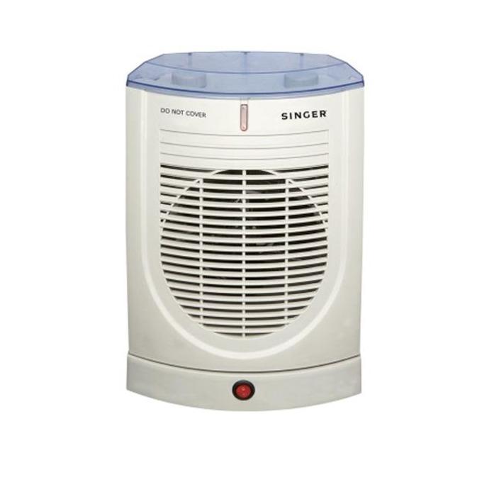 Вентилаторна печка Singer SFH 27 AO, 2 степени, механично управление, защита от прегряване, светлинен индикатор, функция автоматично завъртане, 2000W, бяла image