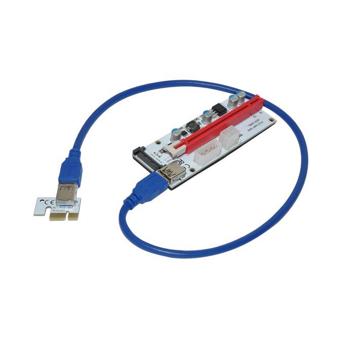 Контролер/екстендер Makki MAKKI-SR138-270, от PCI-E x1 към PCI-E x16 през USB 3.0 кабел, за добив на криптовалути image