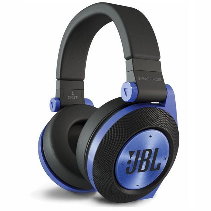 Слушалки JBL Synchros E50 BT, безжични, микрофон, до 24 часа работа, сини image