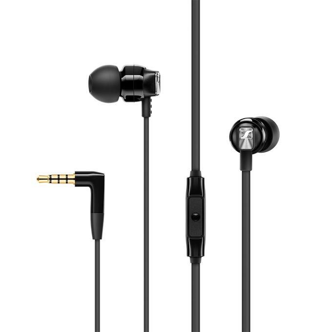 """Слушалки Sennheiser CX 300S, тип """"тапи"""", микрофон, позлатен стерео жак, черни image"""