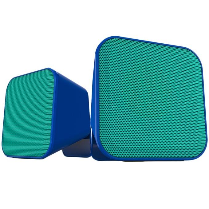 Тонколони Speedlink Snappy, 2.0, 6W(3W +3W), USB, преносими, син image