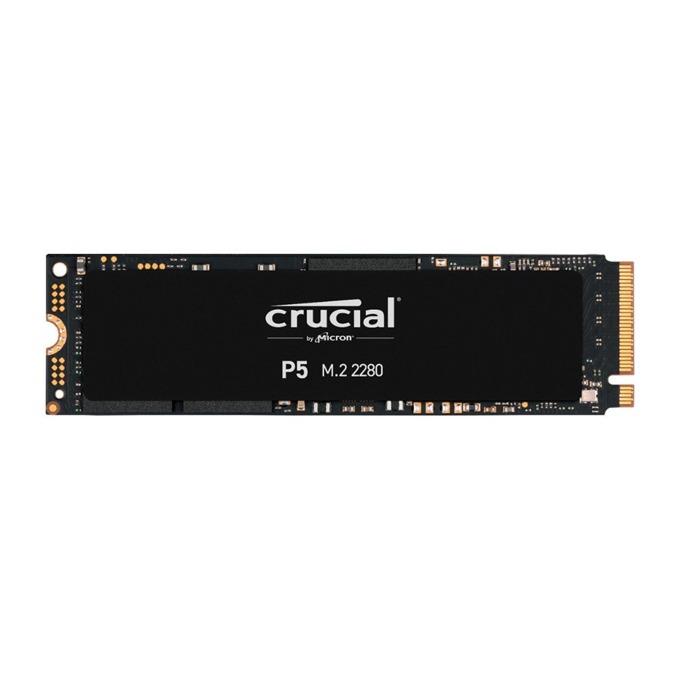Памет SSD 500GB, Crucial P5, PCIe Gen3 x4 NVMe, M.2 (2280), скорост на четене 3400 MB/s, скорост на запис 3000 MB/s image