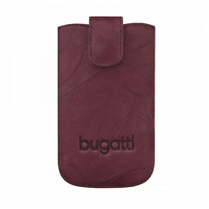 Универсален калъф, джоб, естествена кожа, Bugatti Unique Leather Case SL, бургунди image