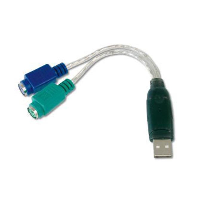 Преходник ASSMANN, от USB A(м) към 2x PS/2(ж) image
